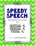 Speedy Speech /L/ Articulation: from word to conversation!