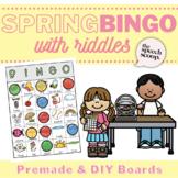 Speedy Speech Spring VOCABULARY Building Bingo