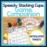 Speedy Stacking Cups Speech Therapy Game Companion:  Articulation