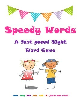 Speedy Words Sight Word Card Game
