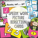 Picture Direction Cards - Speedy Work Desk Mat  Motivator