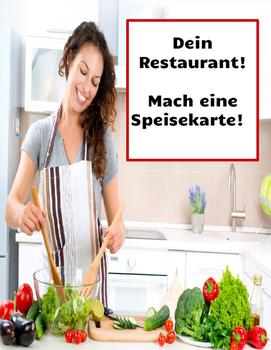 German: Speisekarte - Make a Menu in German - Deutsch