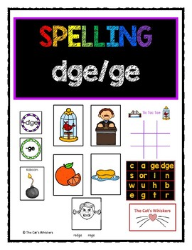 Spelling dge and ge