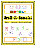 Spell-A-Bracelet with Bonus Numbers Spelling English Reading Math Printable