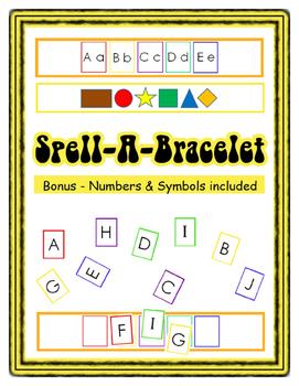 Spell-A-Bracelet with Bonus Numbers Spelling English Readi