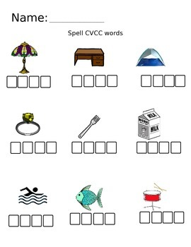 Spell CVCC word practice