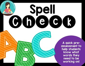 Spell Check: Pre-assessment Spelling Activity Freebie!