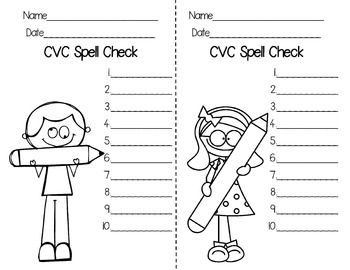 Spell Checks {Formative or Summative Assessments}