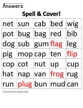 Spell & Cover CVC words