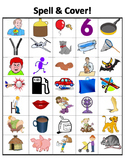 Spell & Cover with more CVC words