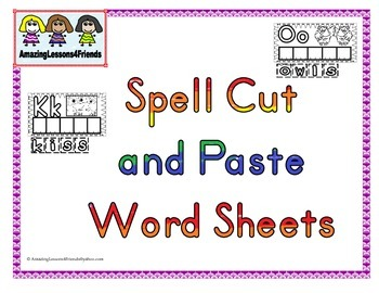 Spell Cut and Paste Word Sheets