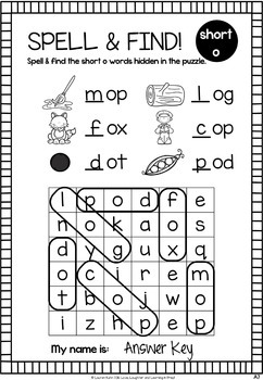 Spell & Find! CVC Word Puzzles