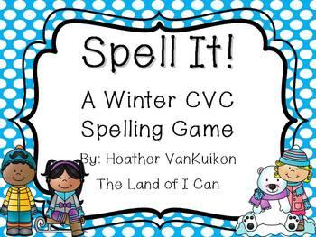 Spell It! A Winter CVC Spelling Game
