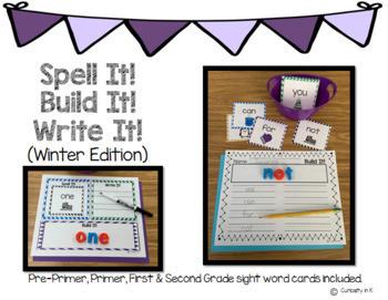 Spell It, Build It, Write It (Winter Edition)