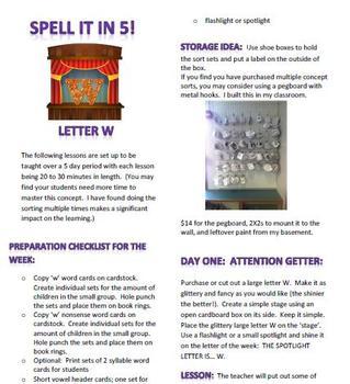 Spell It In 5! Letter W