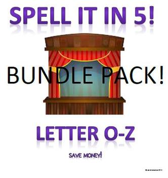 Spell It In 5!  O-Z
