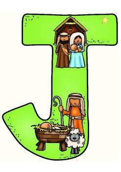 Spell-It-Out JESUS Bulletin Board Letters Freebie