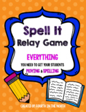 Spell It Relay Game - Get your Students Moving and Spelling!