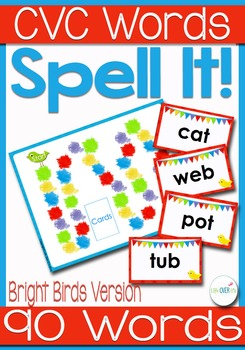 CVC Word Families Board Game