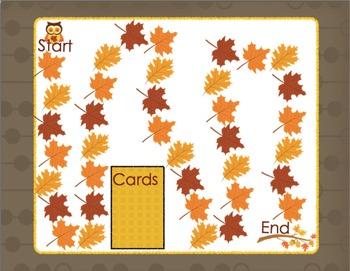 CVC Word Families Board Game Fall Themed