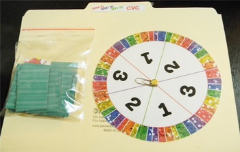 CVC Word Families Board Game Rainbow Themed