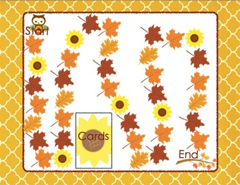 CVCe Words Board Game Fall Themed