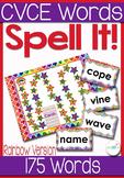 CVCe Words Board Game Rainbow Themed