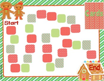 Initial Blends Board Game Christmas Themed CCVC/CCCVC