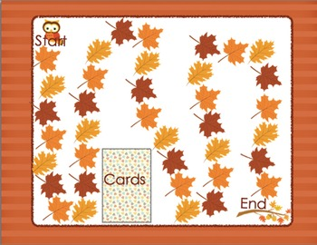 Initial Blends Board Game Fall Themed CCVC/CCCVC