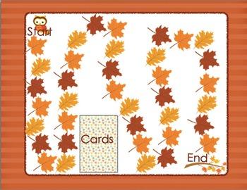 Initial Blends Board Game Fall Themed CCVC/CCCVC