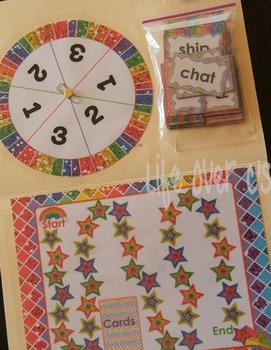 Initial Blends Board Game Rainbow Themed CCVC/CCCVC