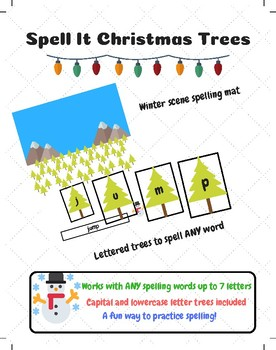 Spell It With Christmas Trees - A Fun Way To Practice Spelling ANY Words!
