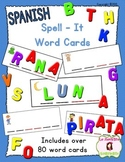 Spell-It Open Syllable Word Cards (Spanish)