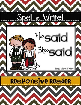 Spell It Write!  SAID Responsive Reader (More Than Sight Words) FOREIGN LANGUAGE