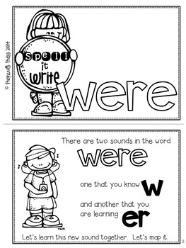 Spell It Write!  WERE Responsive Reader (More Than Sight Words)