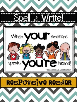 Spell It Write!  Homophones YOUR and YOU'RE Responsive Reader
