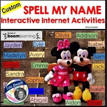 Spell My Name: AIDEN - Custom No Prep Interactive Internet Activities