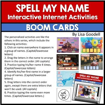 Spell My Name: ANGEL - Custom No Prep Interactive Internet Activities