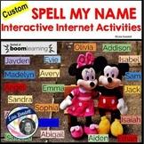 Spell My Name: AVERY - Custom No Prep Interactive Internet Activities