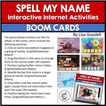 Spell My Name: ETHAN - Custom No Prep Interactive Internet Activities