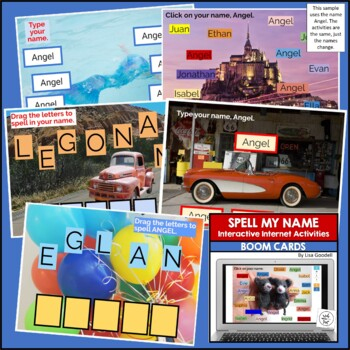 Spell My Name: MASON - Custom No Prep Interactive Internet Activities