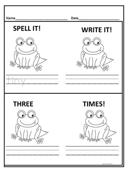 """Parts of Speech Bundle """"Practice Reading"""" (Spelling and Writing Worksheets)"""