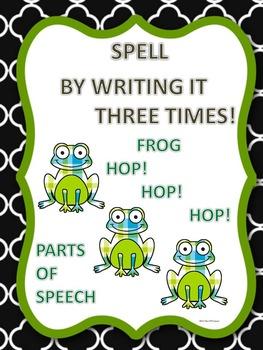 Parts of Speech: Spelling Worksheets (Bundle)