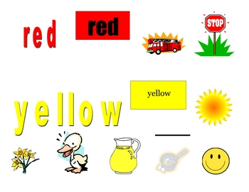 Spell & Read Color Words Through Songs (Pre-K, Kindergarten, & 1st)