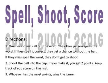 Spell, Shoot, Score