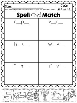 CVCe Spell and Match