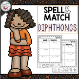 Diphthongs Spelling, Cut and Paste Activities