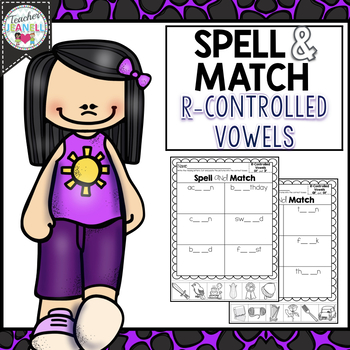 R-Controlled Vowels Spelling, Cut and Paste Activities