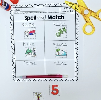 Trigraphs (3 Letter Blends) Spell and Match