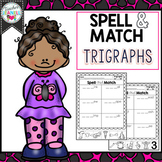 Trigraphs 3 Letter Blends Spelling, Cut and Paste Activities
